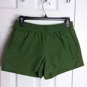 J. Crew Olive Green Shorts Sz 0
